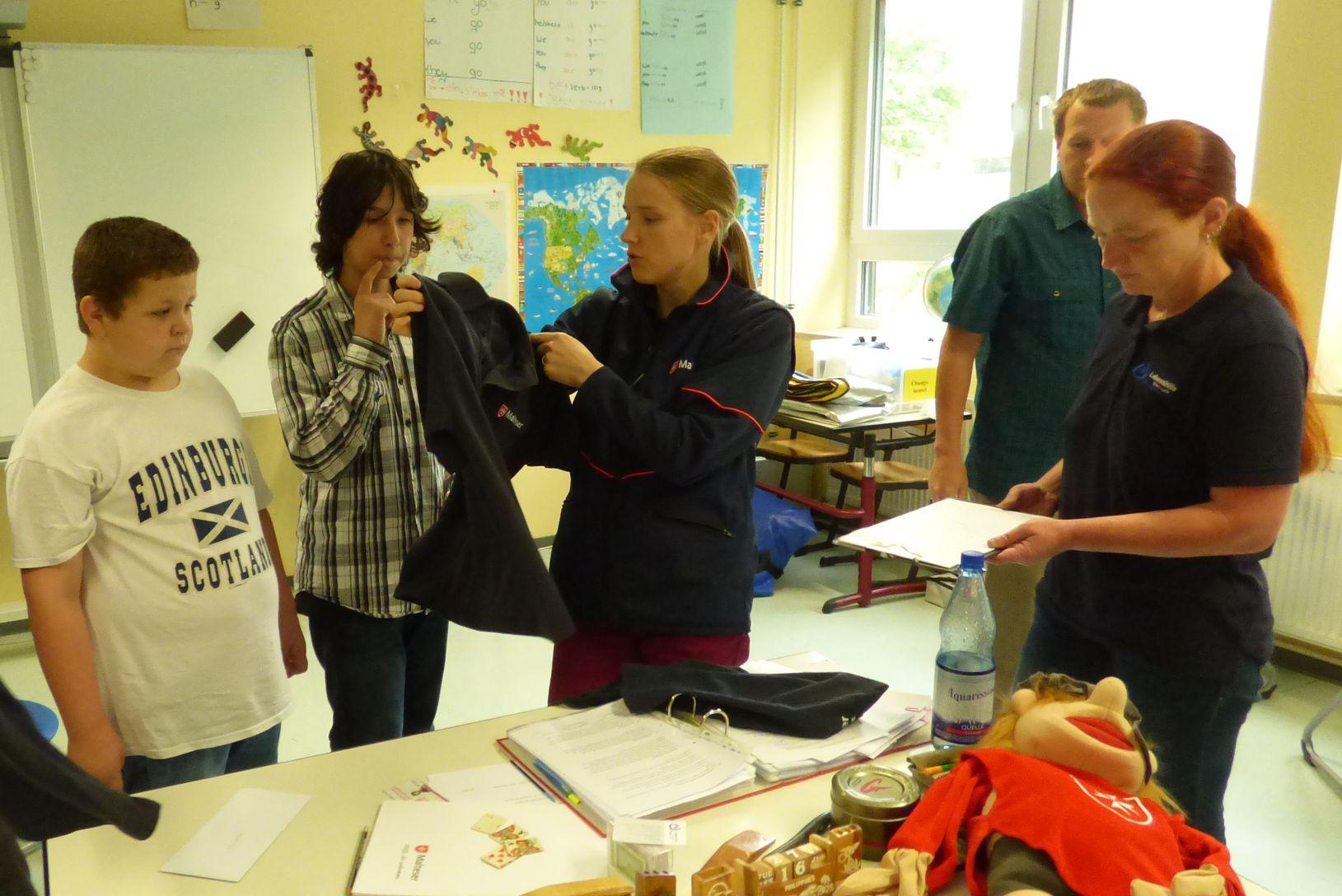 Schulsanitäter prüfung LORELEYSCHULE Schulsanitätsdienst